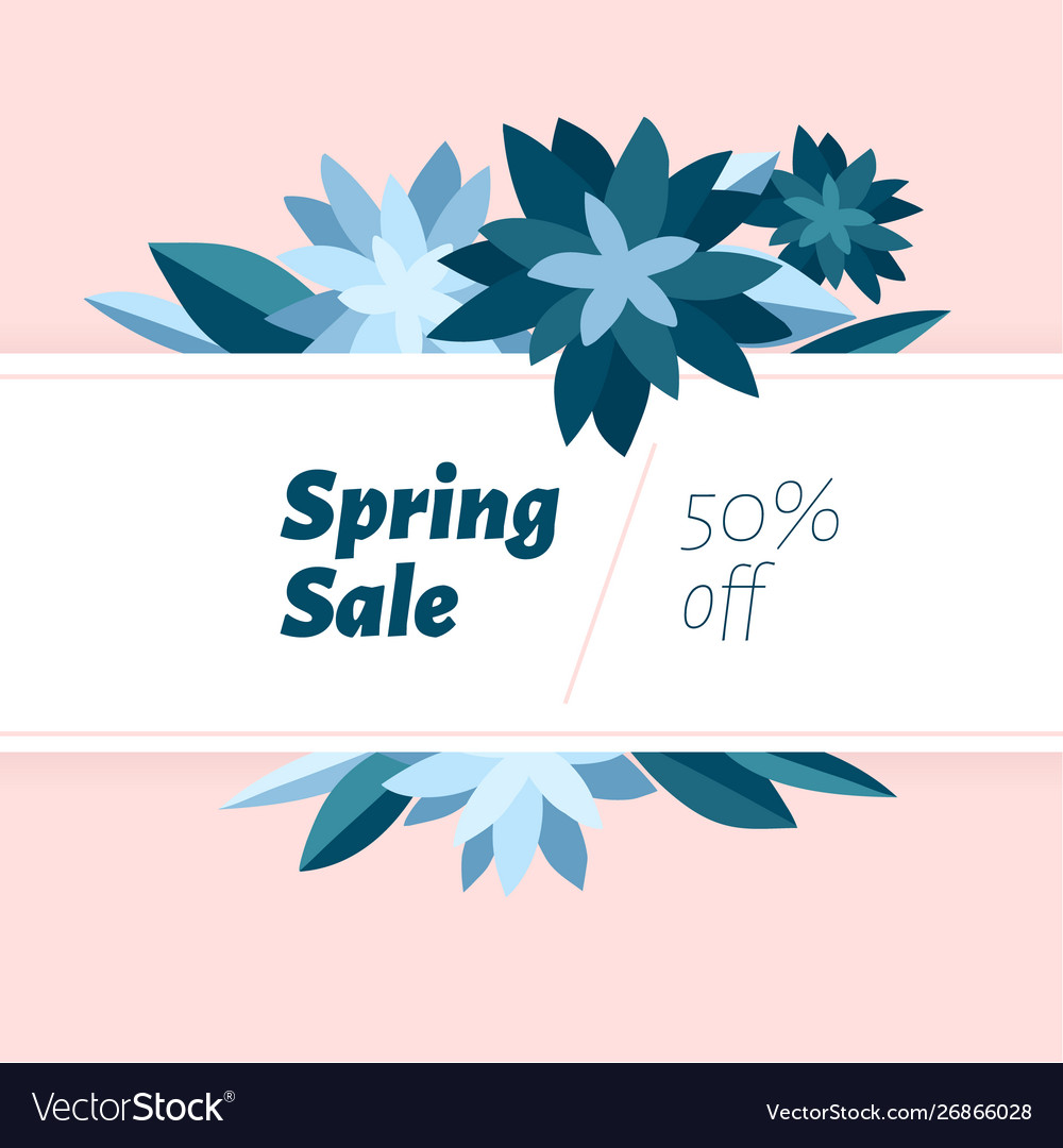 Spring sale design template with beautiful