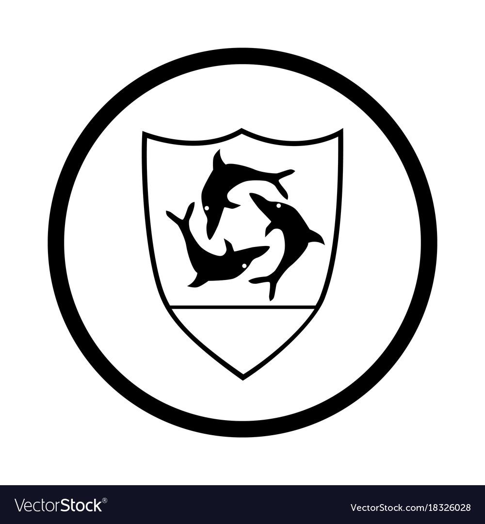 Symbol of anguilla - iconic design