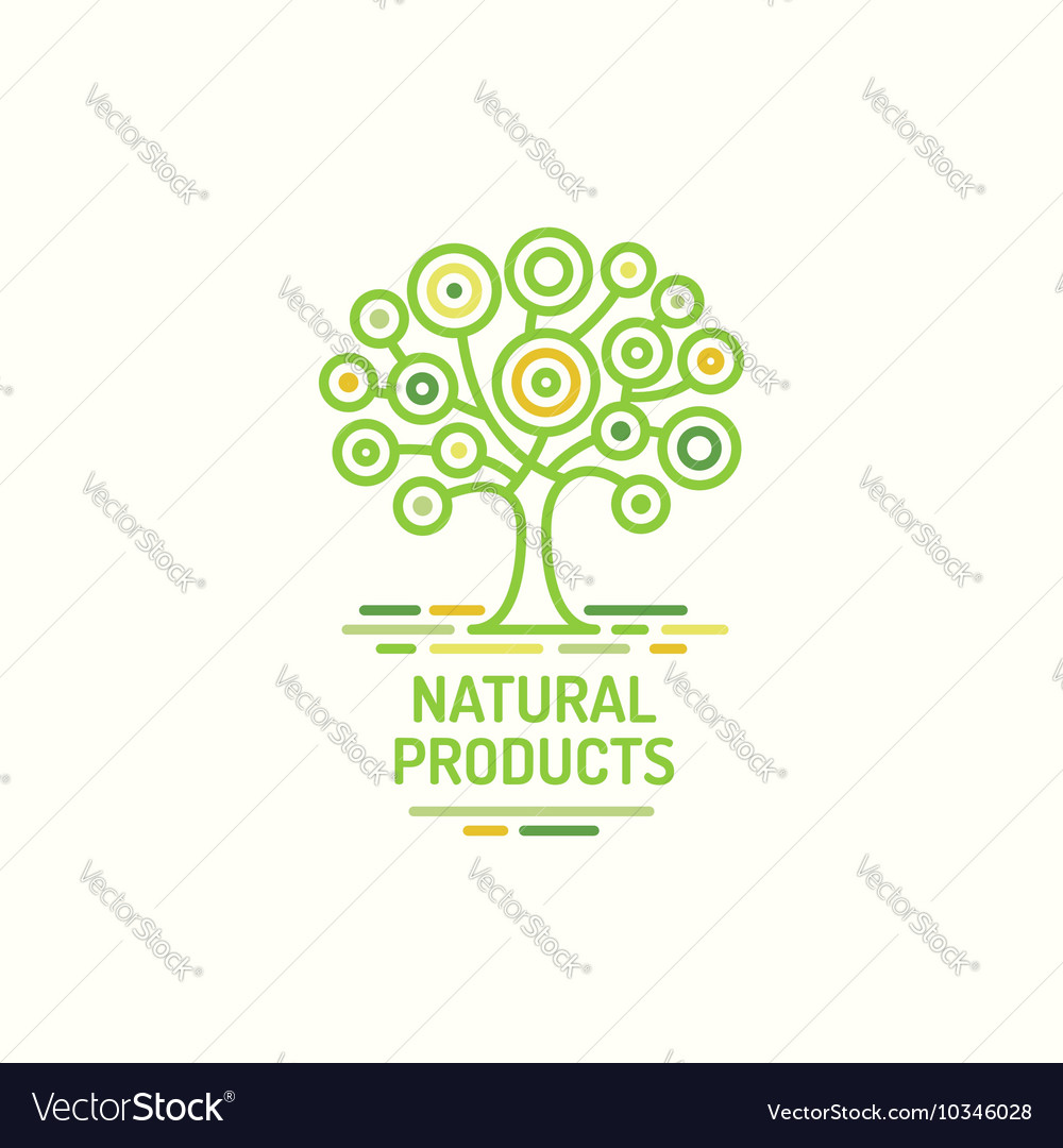 Tree symbol natural product green tree icon