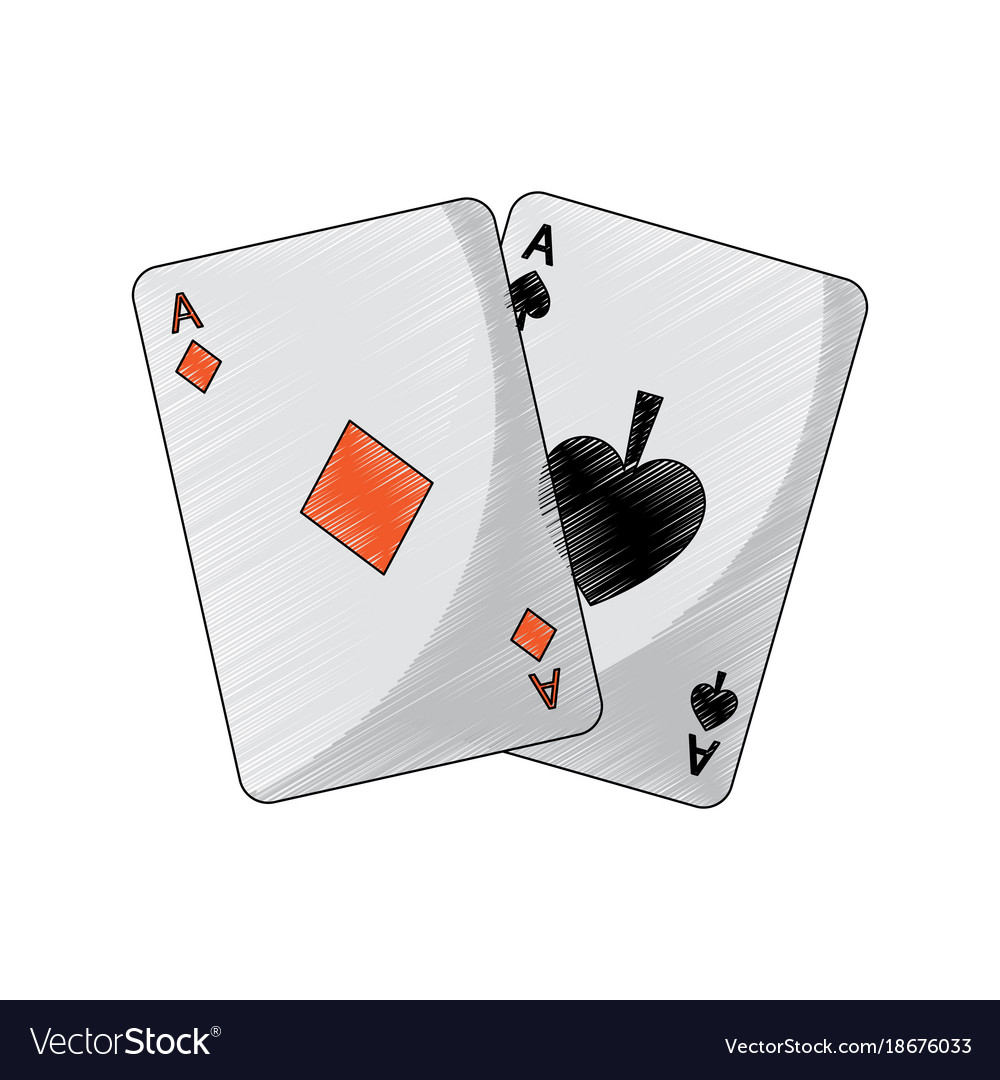Ace Of Spades Diamonds Suits French Playing Cards Vector Image