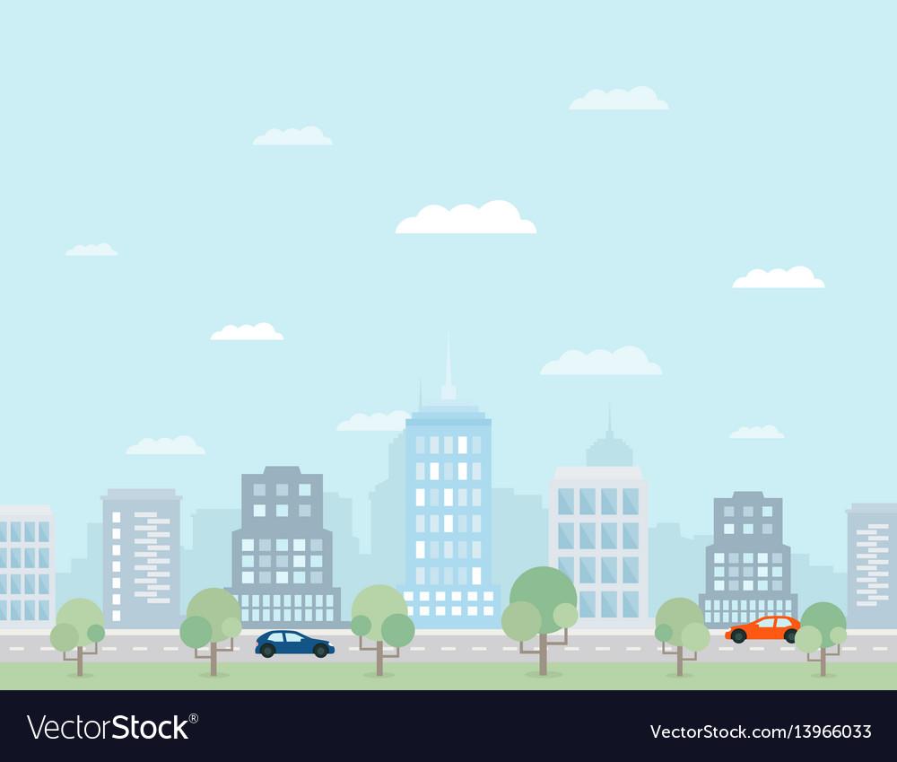 Future city2 vector image