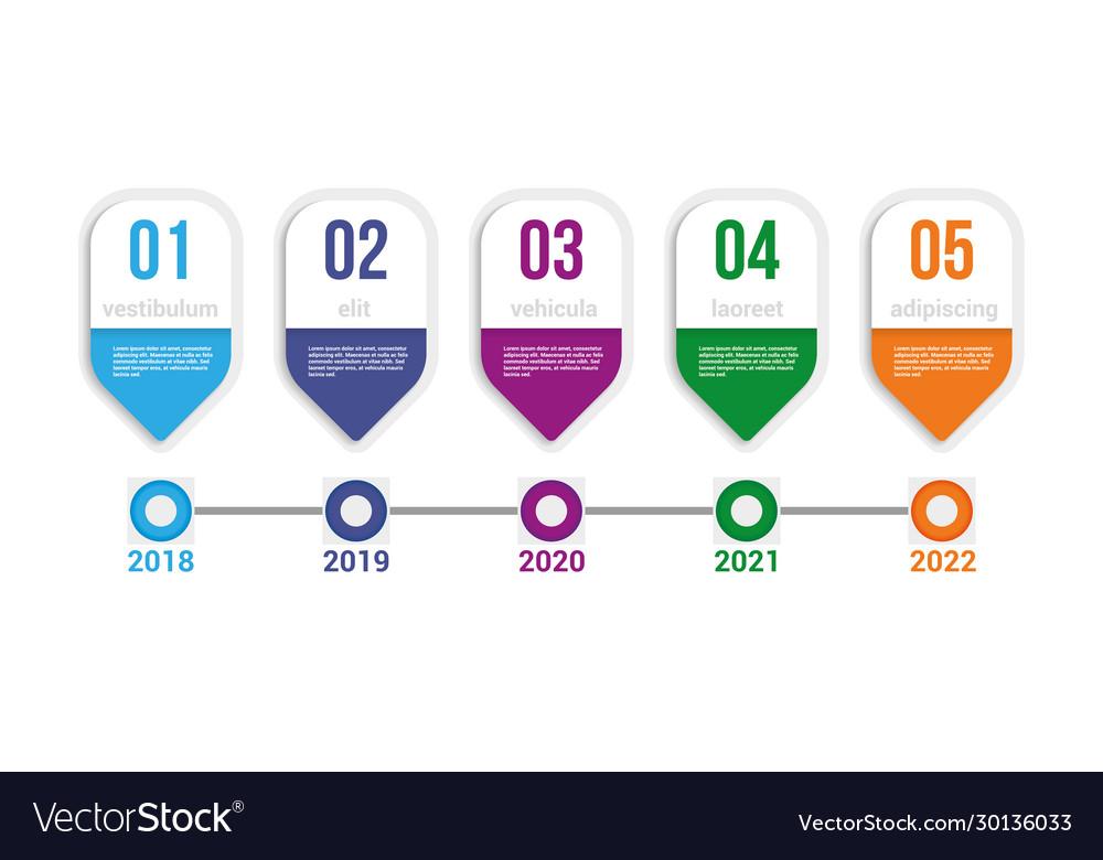 Infographics timeline elements