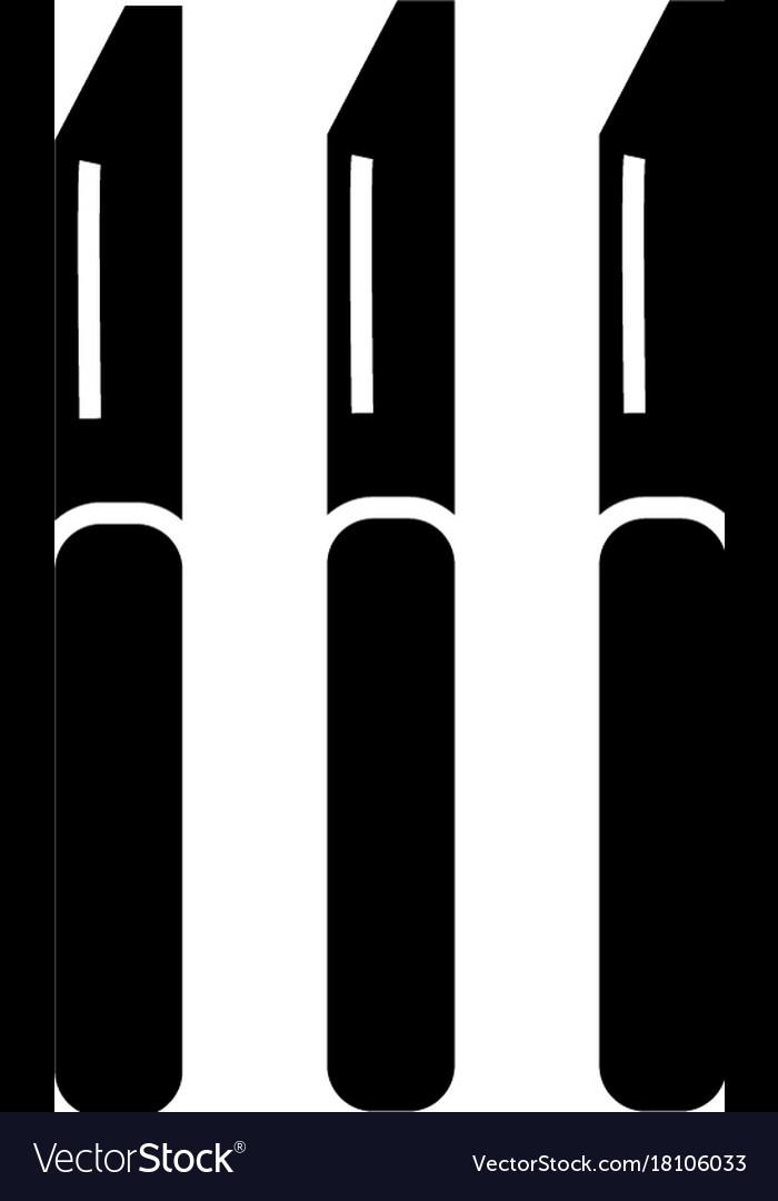 Restaurant knife icon black vector image