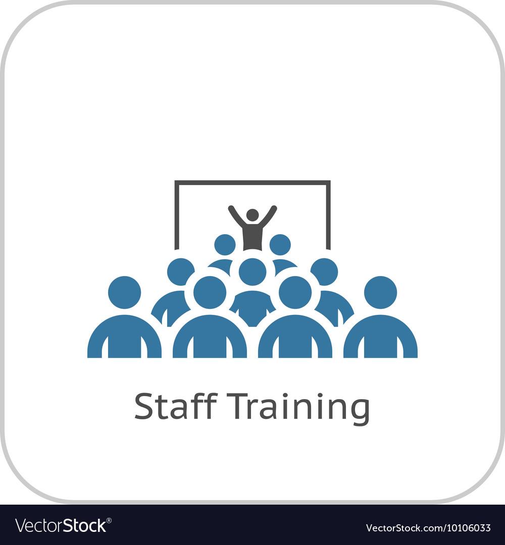 Training Icon Flat Design vector image