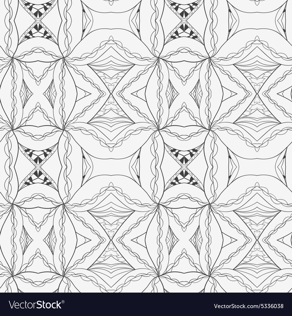 Abstract seamless ornament pattern the