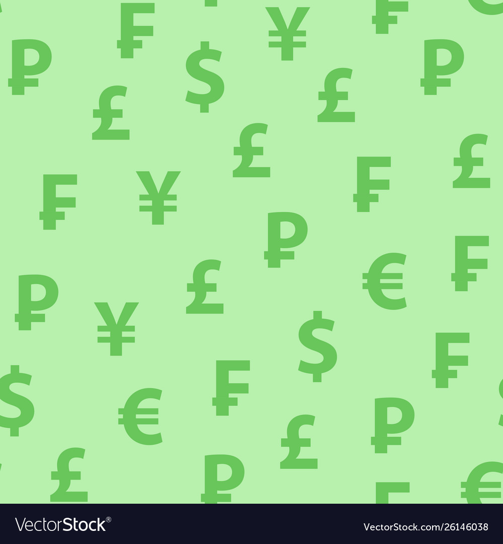 Background green color with symbols popular