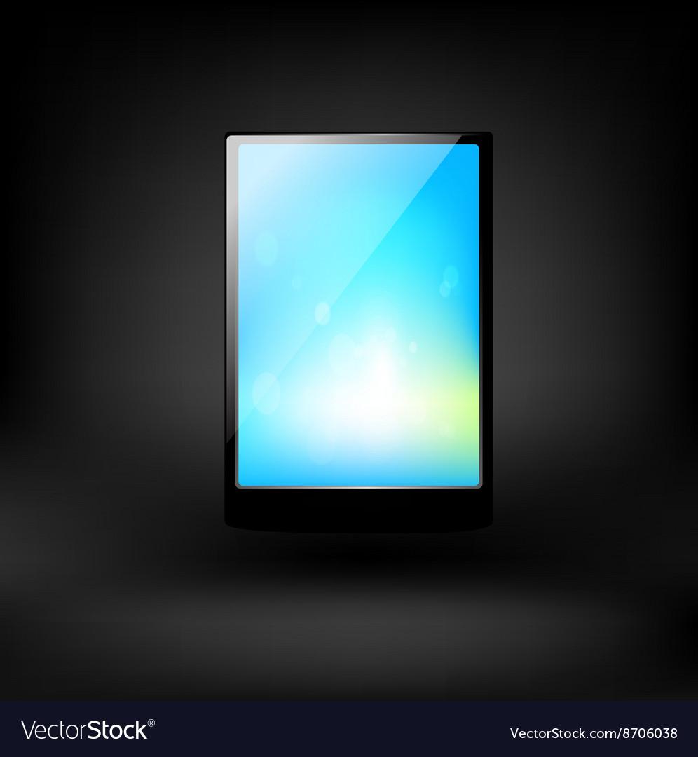 Lap top icon vector image