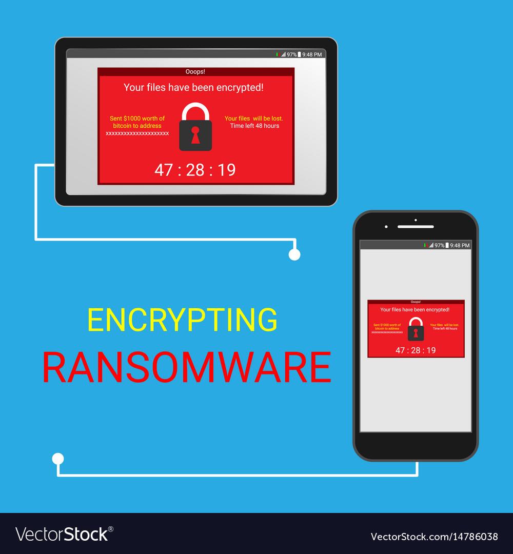 Malware encrypted files