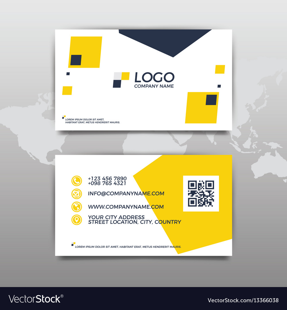 Modern simple business card template flat design vector image fbccfo Choice Image
