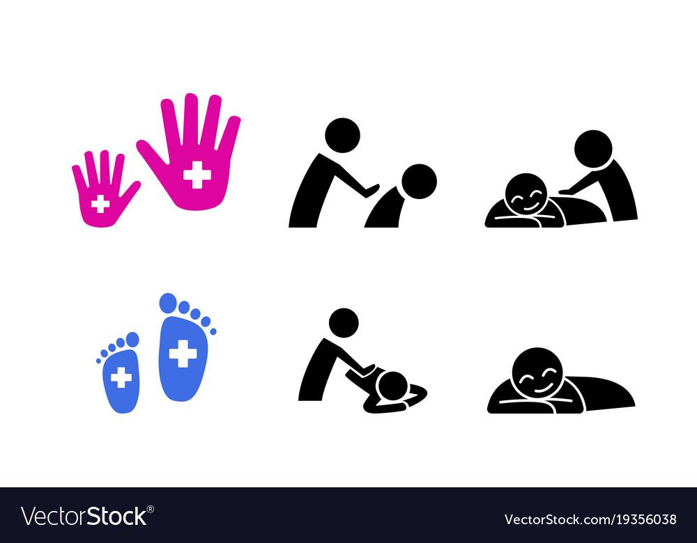 Set of massage icon