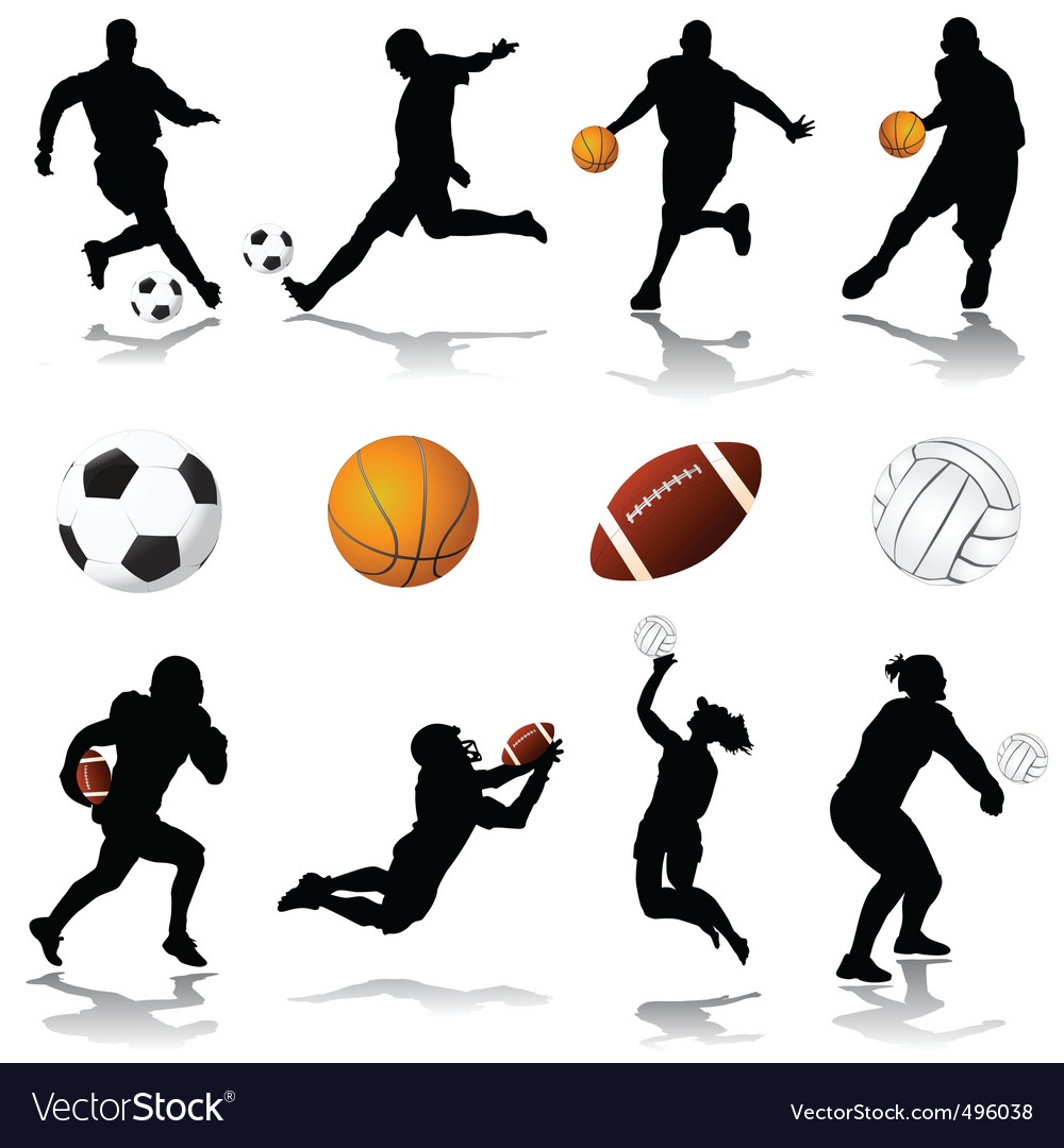 Sport set vector image