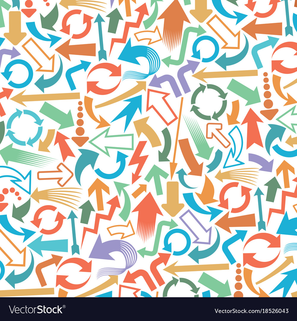Background pattern with hunting arrows
