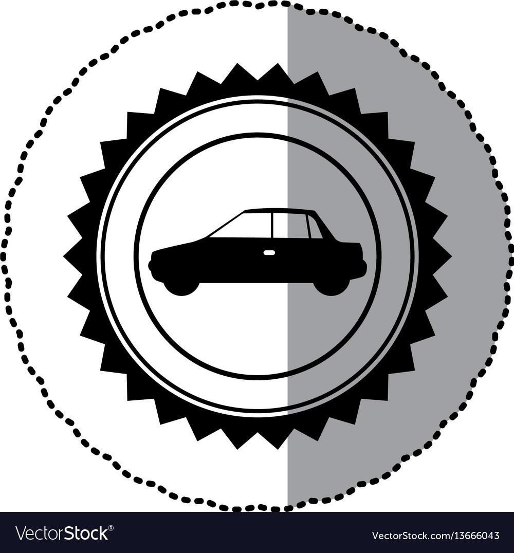 Black star emblem side car icon