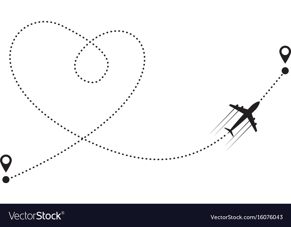 Plane and track vector image