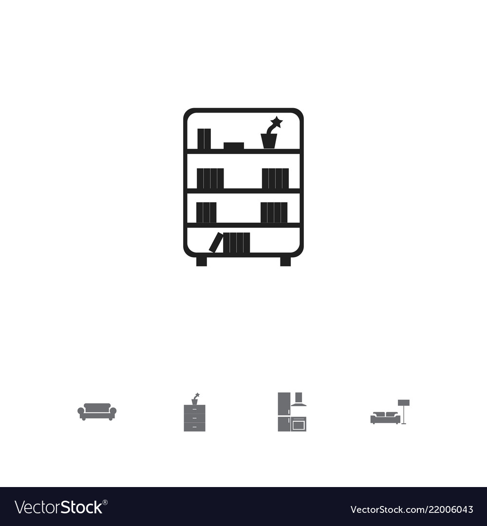Set of 5 editable furnishings icons includes