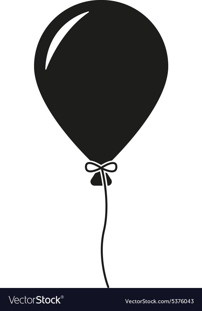 The Balloon Icon Holiday Symbol Flat Royalty Free Vector
