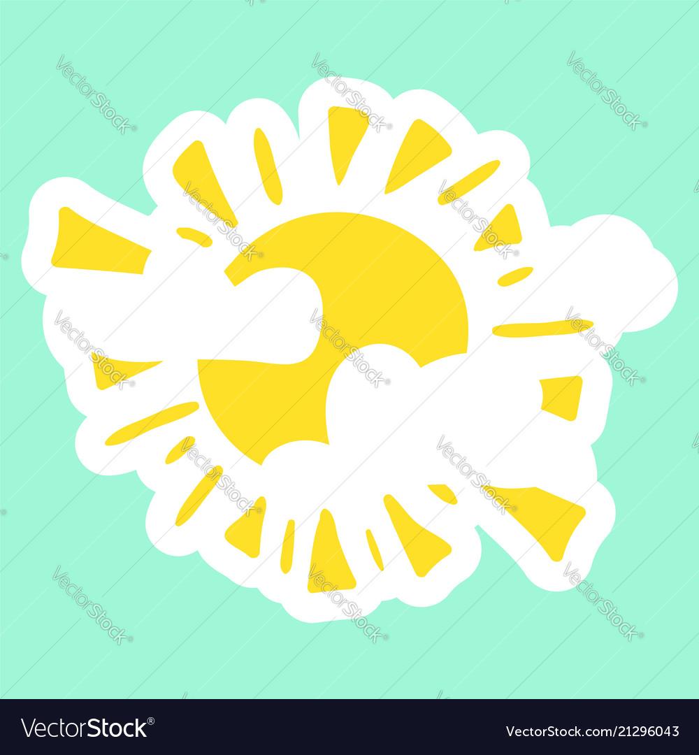 Yellow fun sun