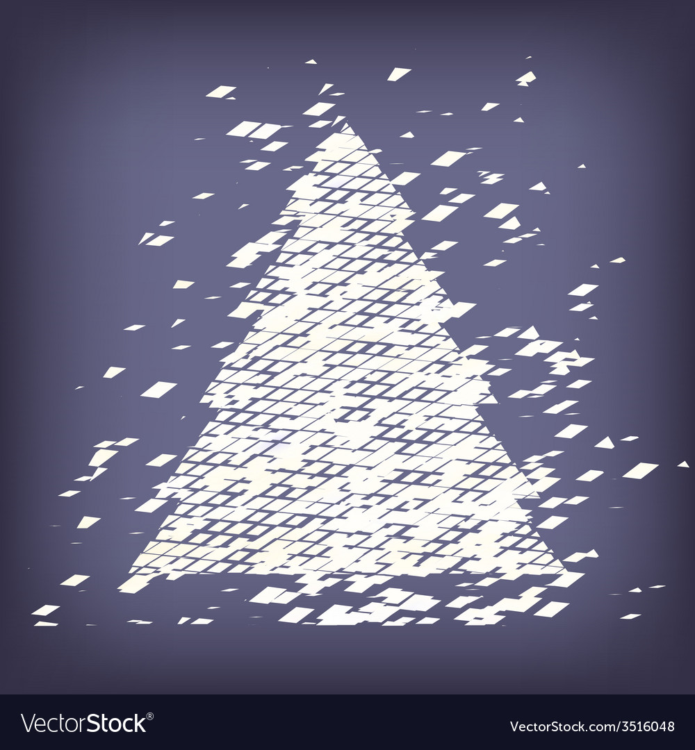 Christmas tree from light background