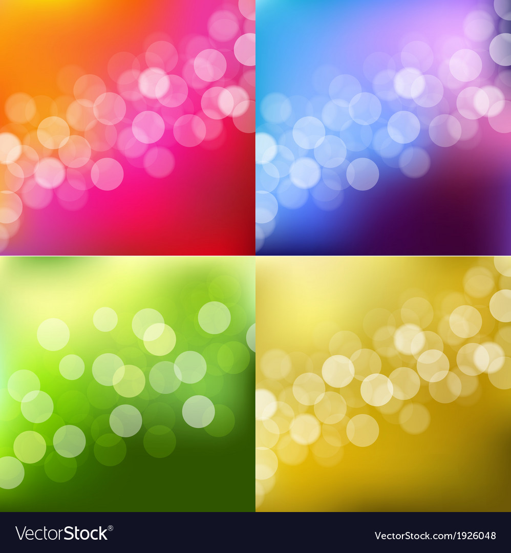 Color Lights Background With Bokeh vector image