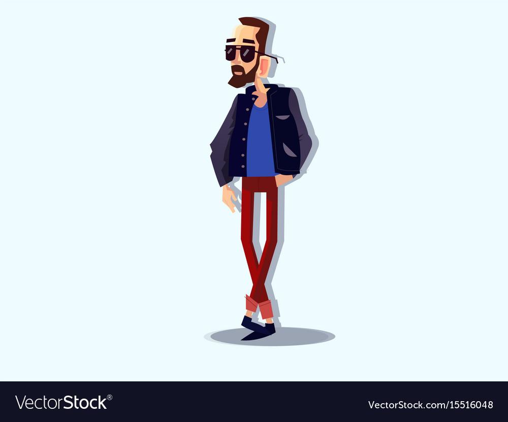 Cool hipster man