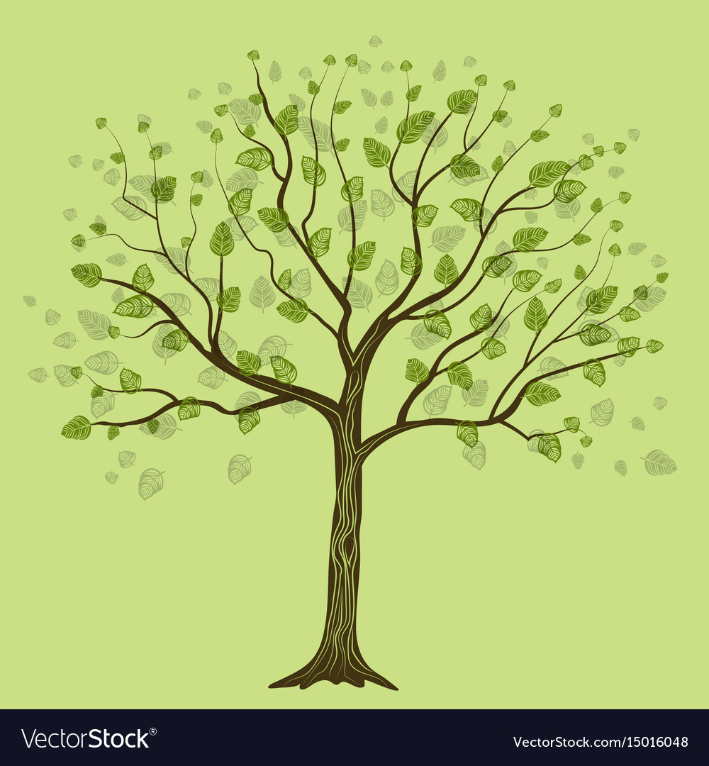 Decorative tree with leaves