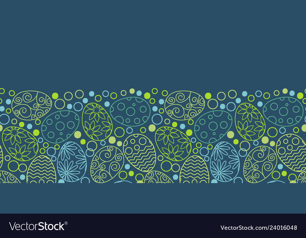Easter eggs decorative pattern on white background