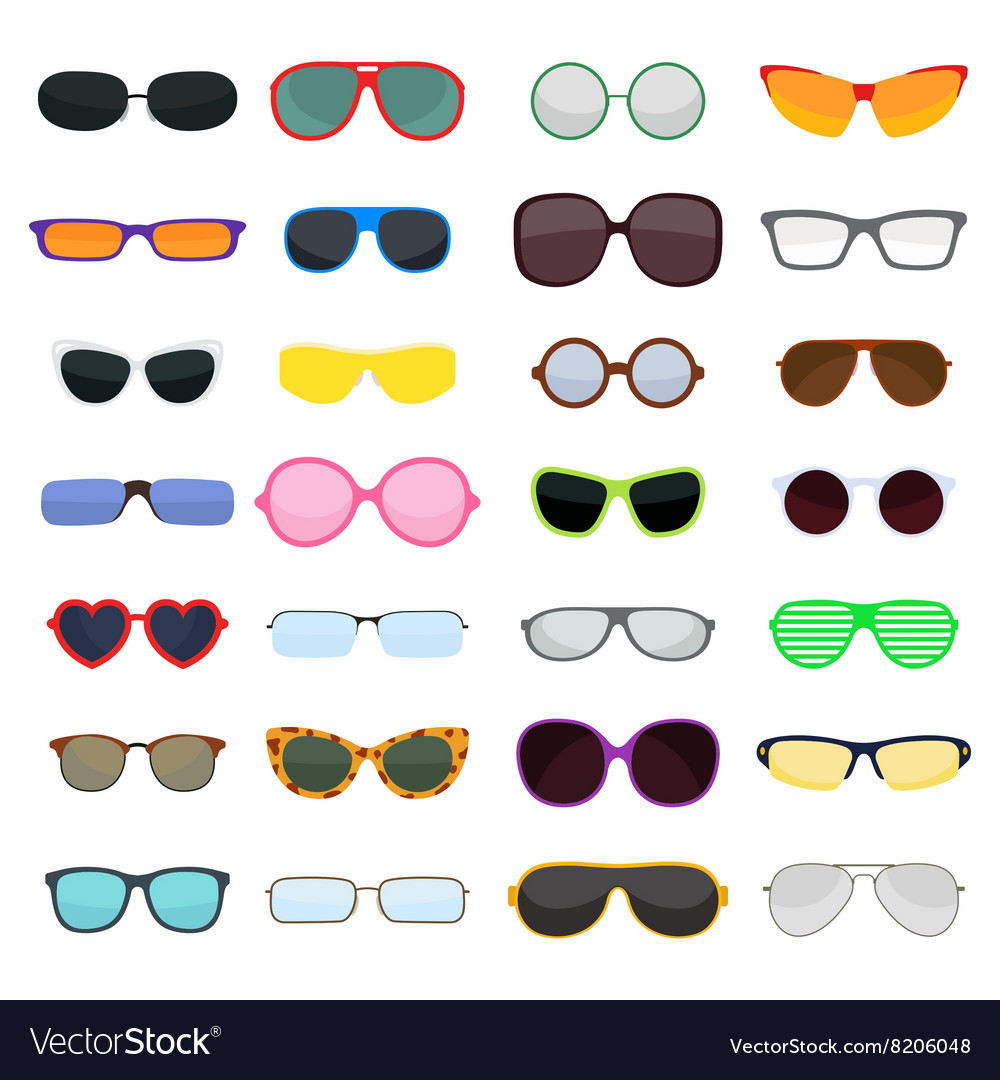 Fashion glasses isolated on white vector image