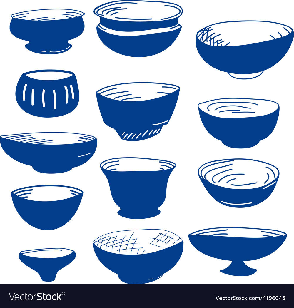Hand drawn of cups