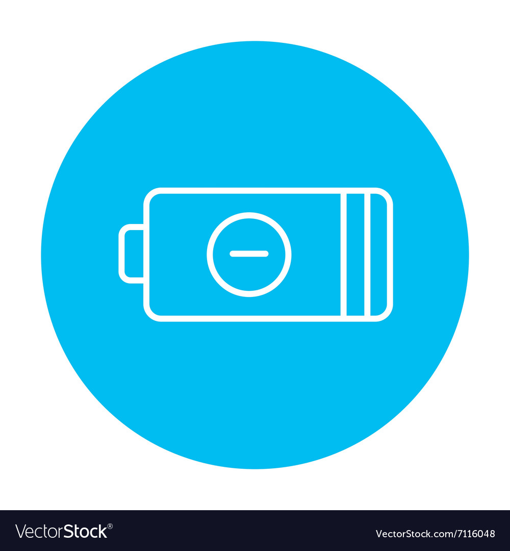 Low power battery line icon