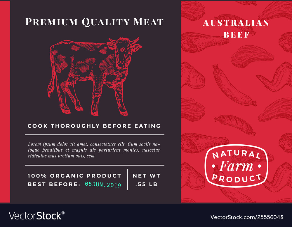 Premium quality meat abstract beef