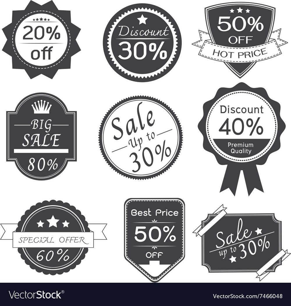 Promotion Stickers Labels Design