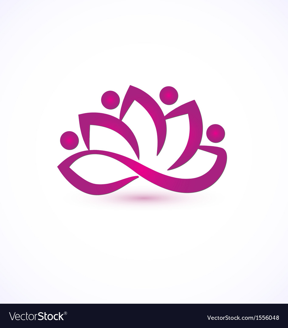 Purple lotus flower logo royalty free vector image purple lotus flower logo vector image mightylinksfo