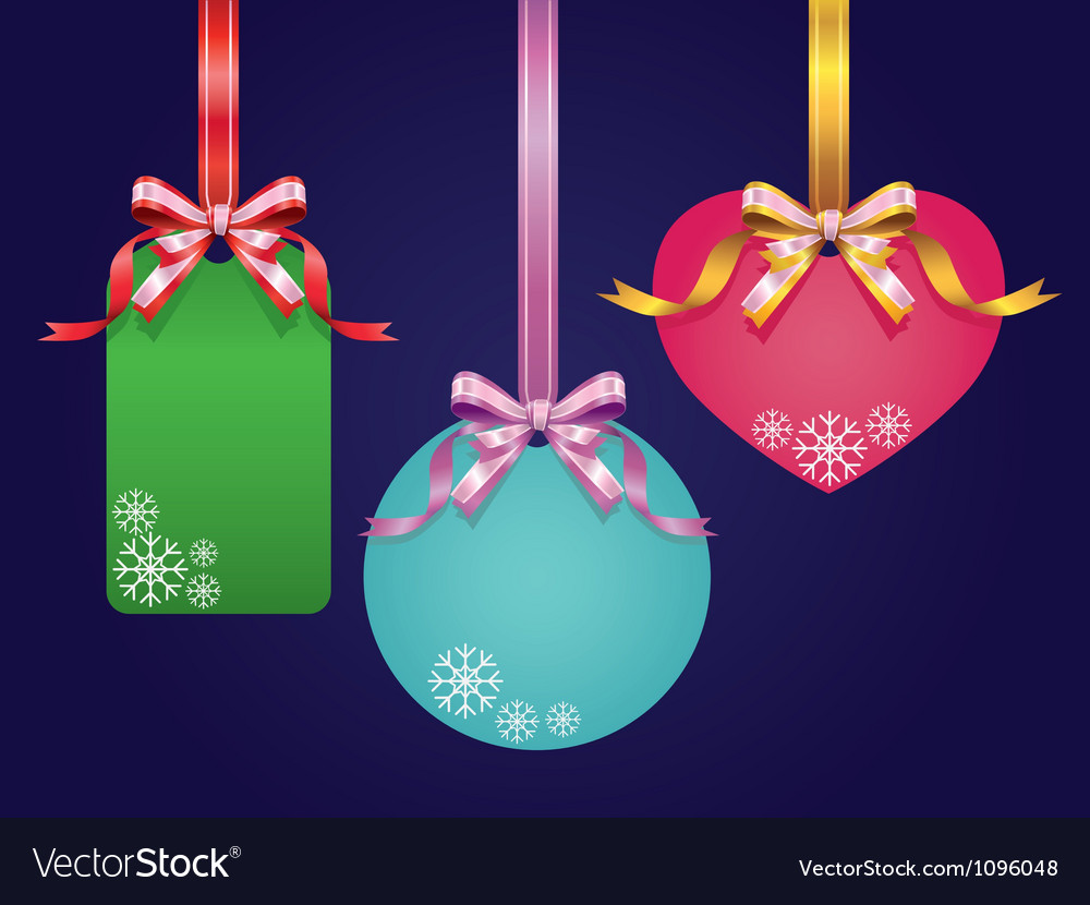 Ribbon and Price tags vector image