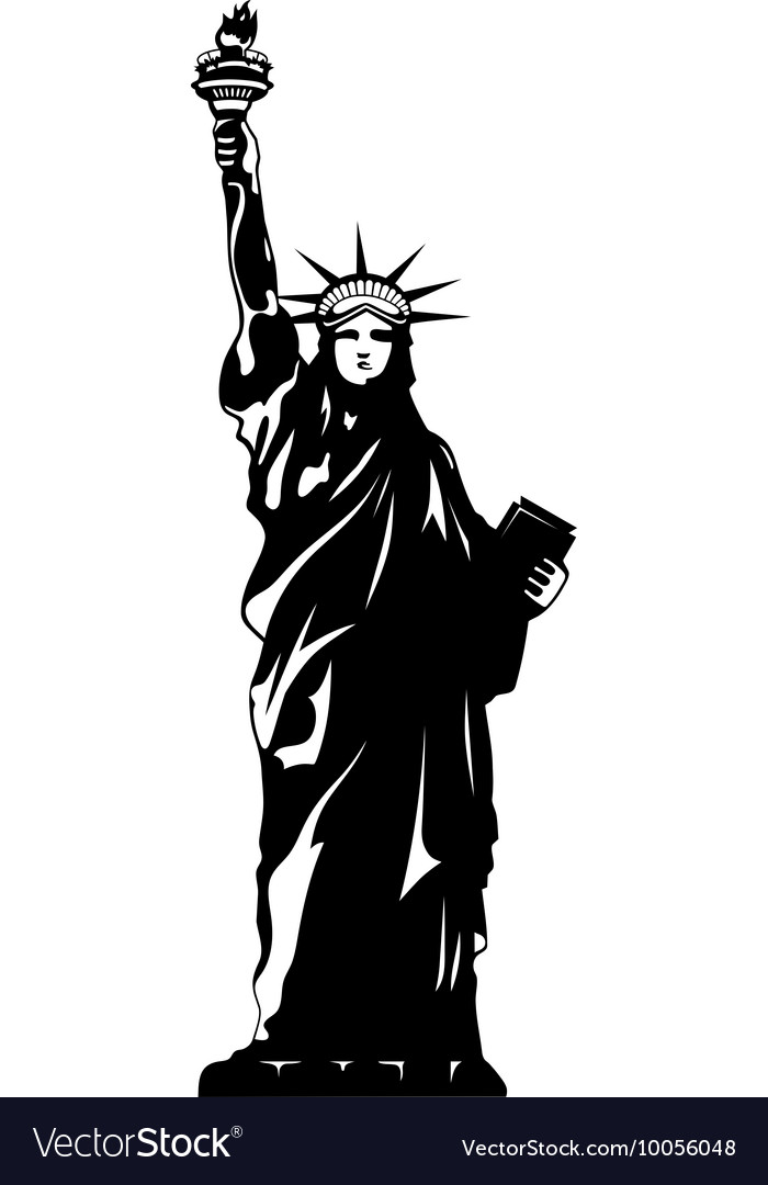 Statue Of Liberty Black And White New York