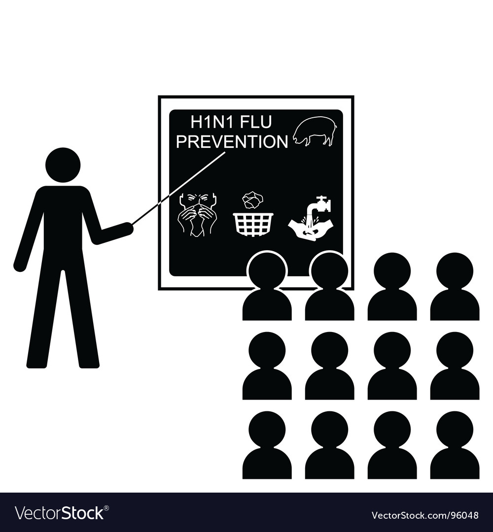 Swine flu lecture vector image