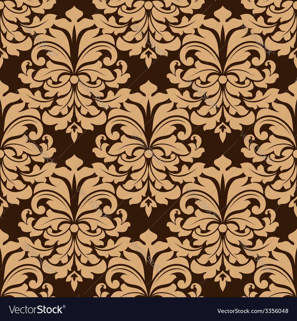 Vintage Floral Seamless Pattern Background Vector Image