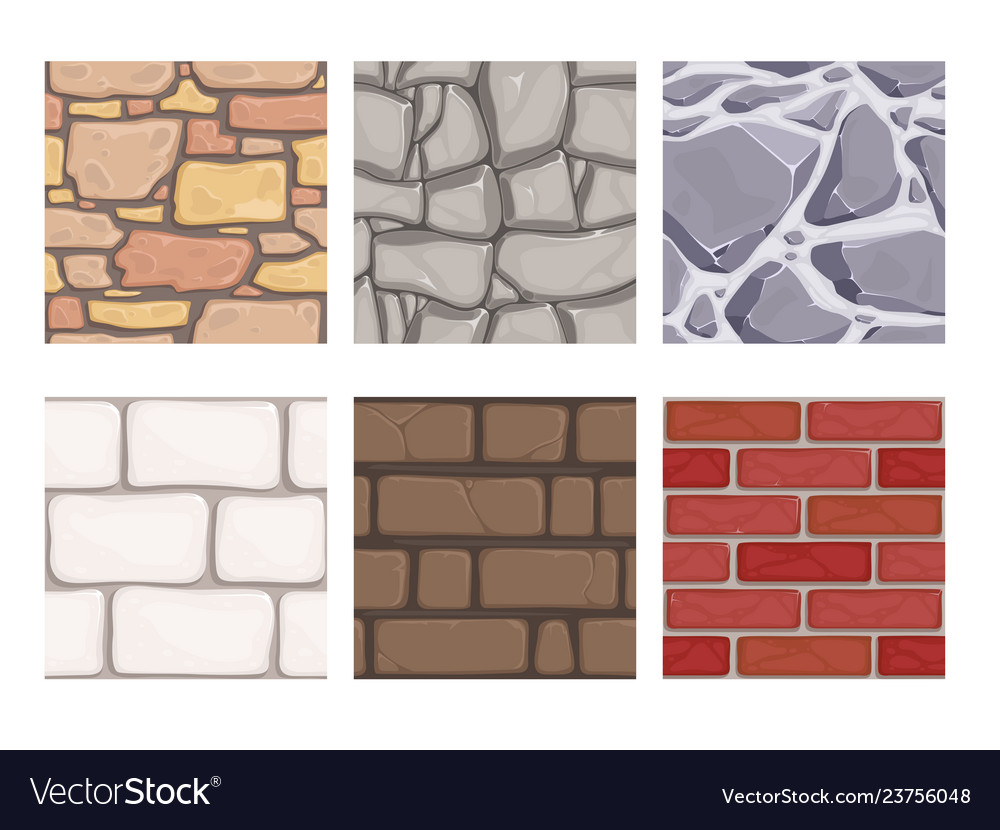 Wall game textures seamless rock earth stones