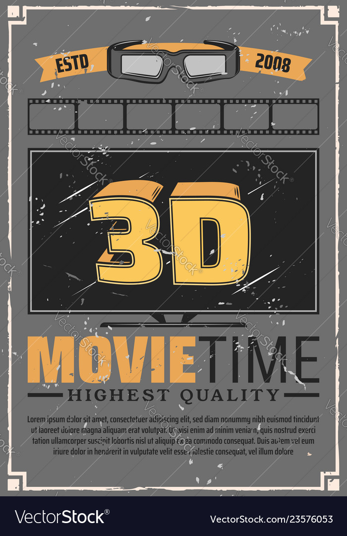 3d effect tv glasses and cinema film