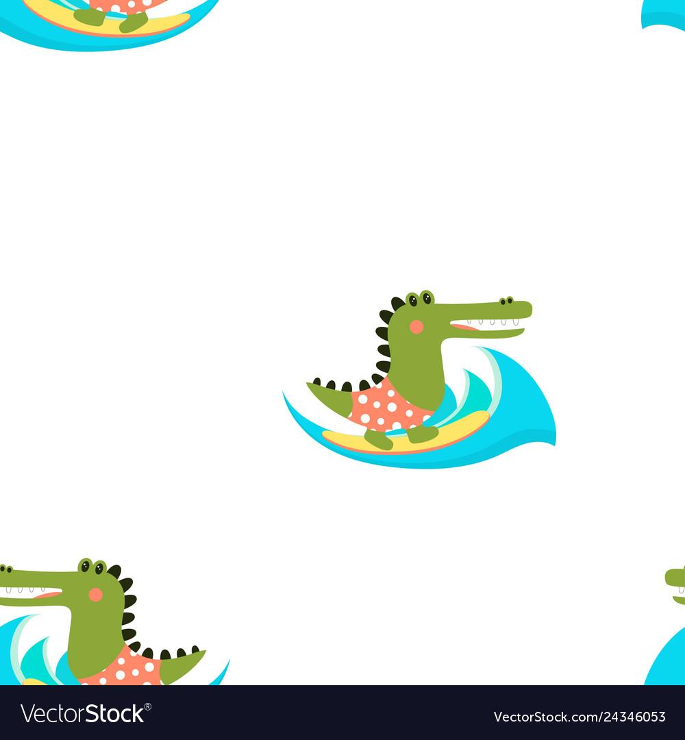 Cartoon crocodile pattern
