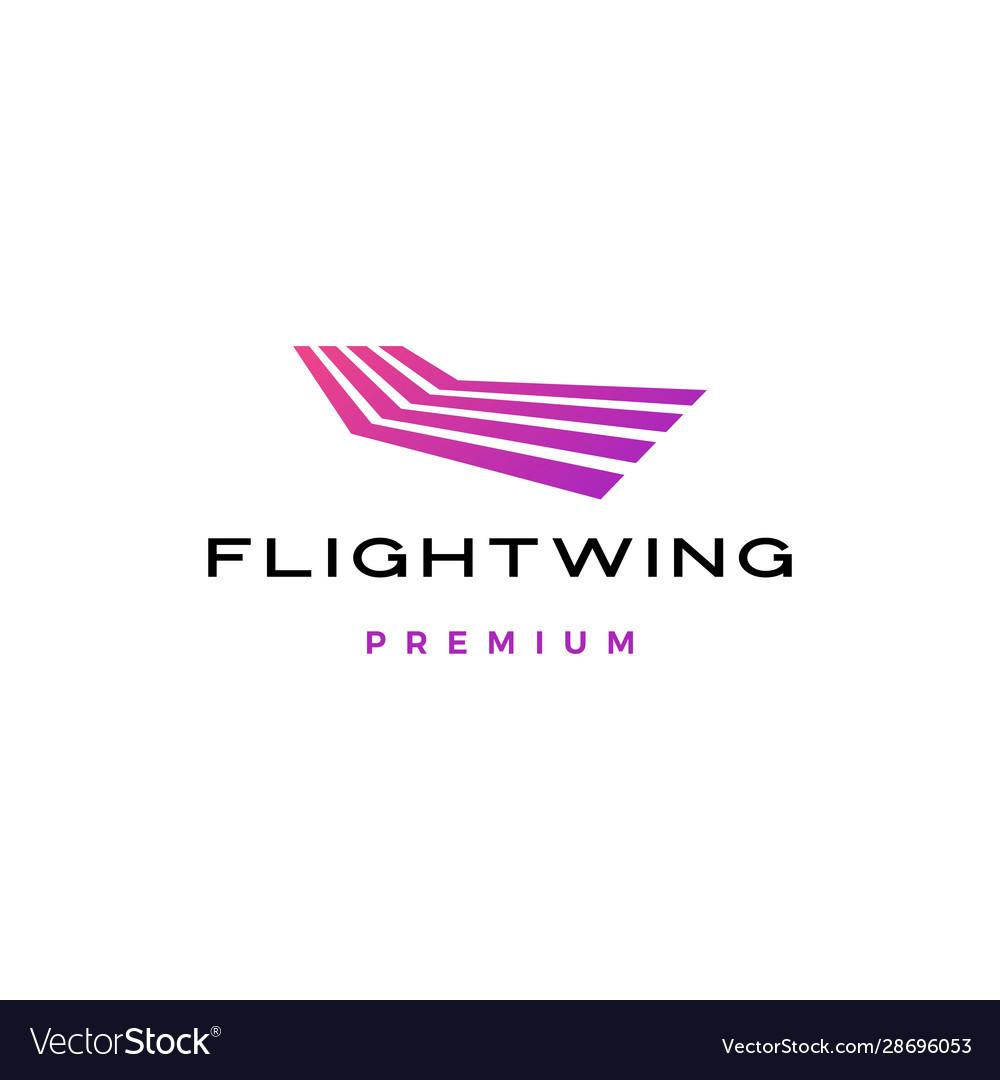 Flight line wing stripes logo icon