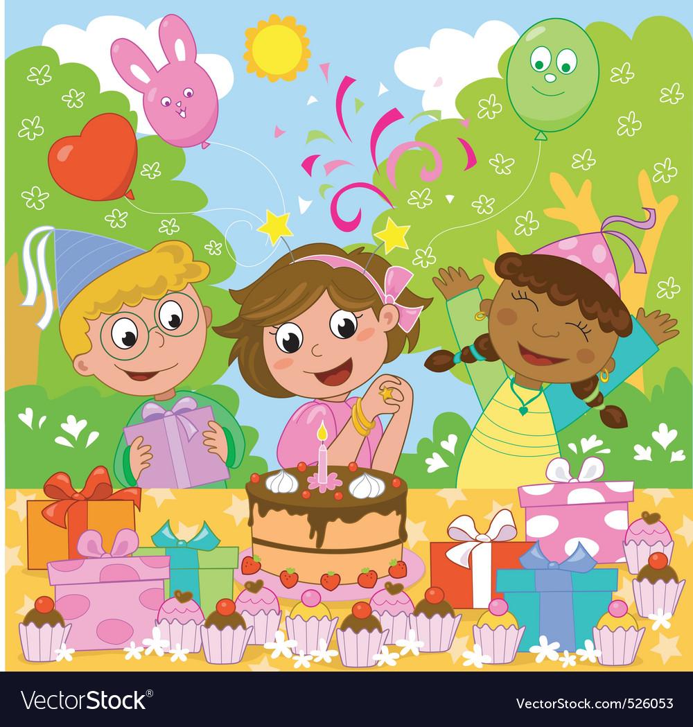 Happy Birthday Girl Royalty Free Vector Image