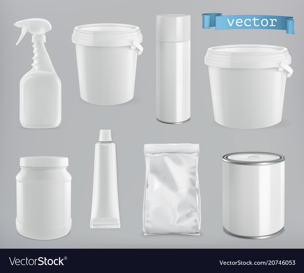 Packaging building and sanitary white plastic