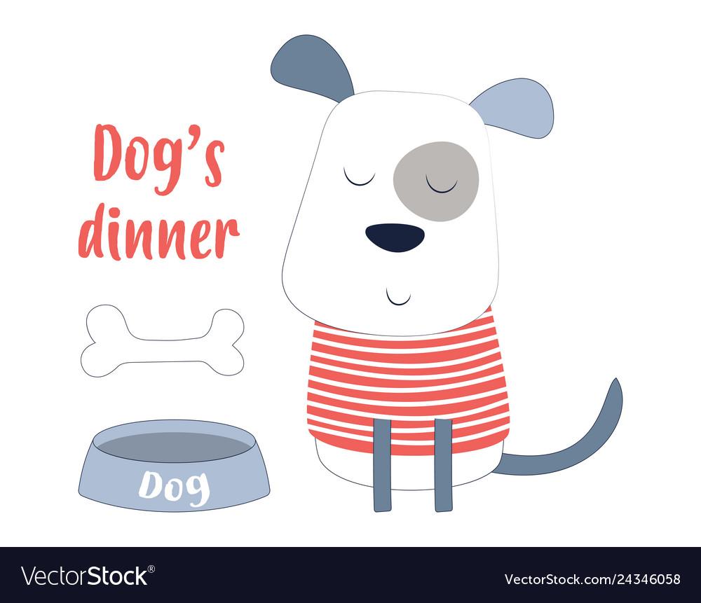 Cartoon Dog In Scandinavian Style Royalty Free Vector Image