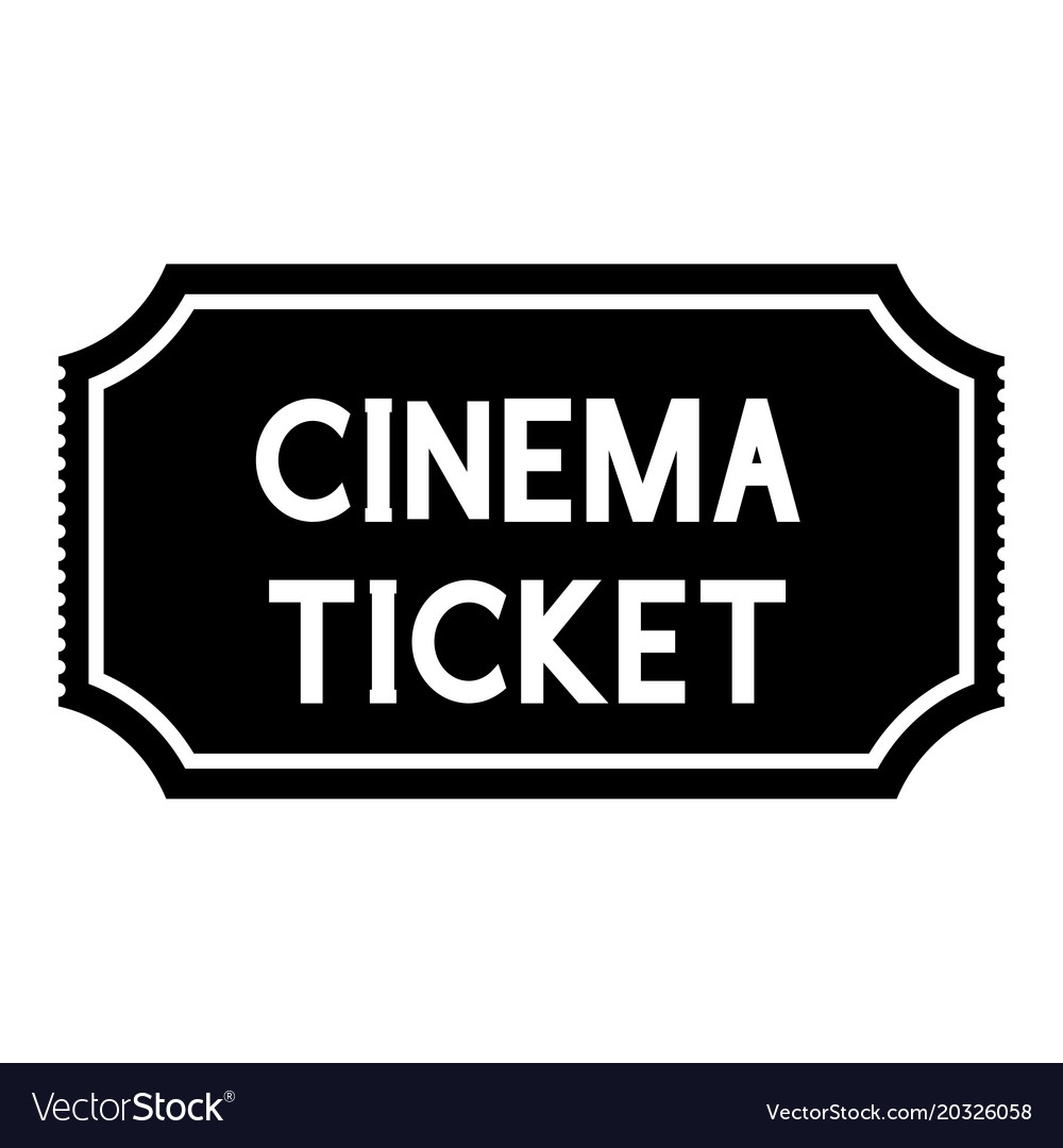 cinema ticket black silhouette icon royalty free vector