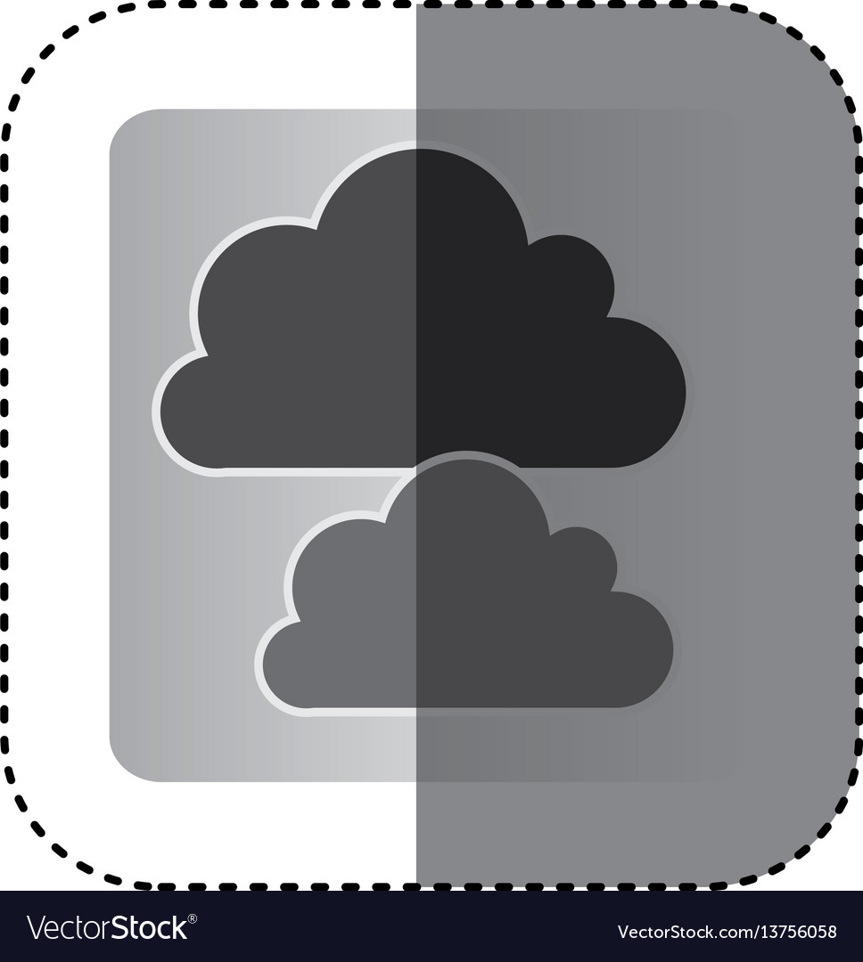 Gray cound data network icon