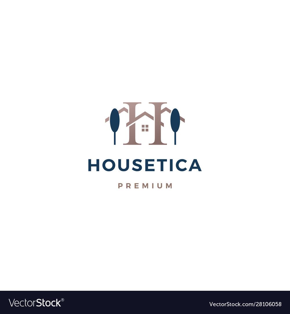H letter house logo icon