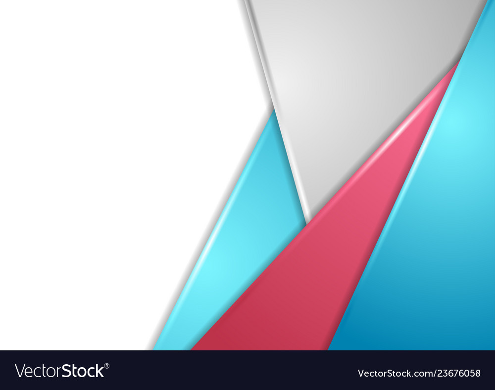 Red blue and grey corporate abstract background