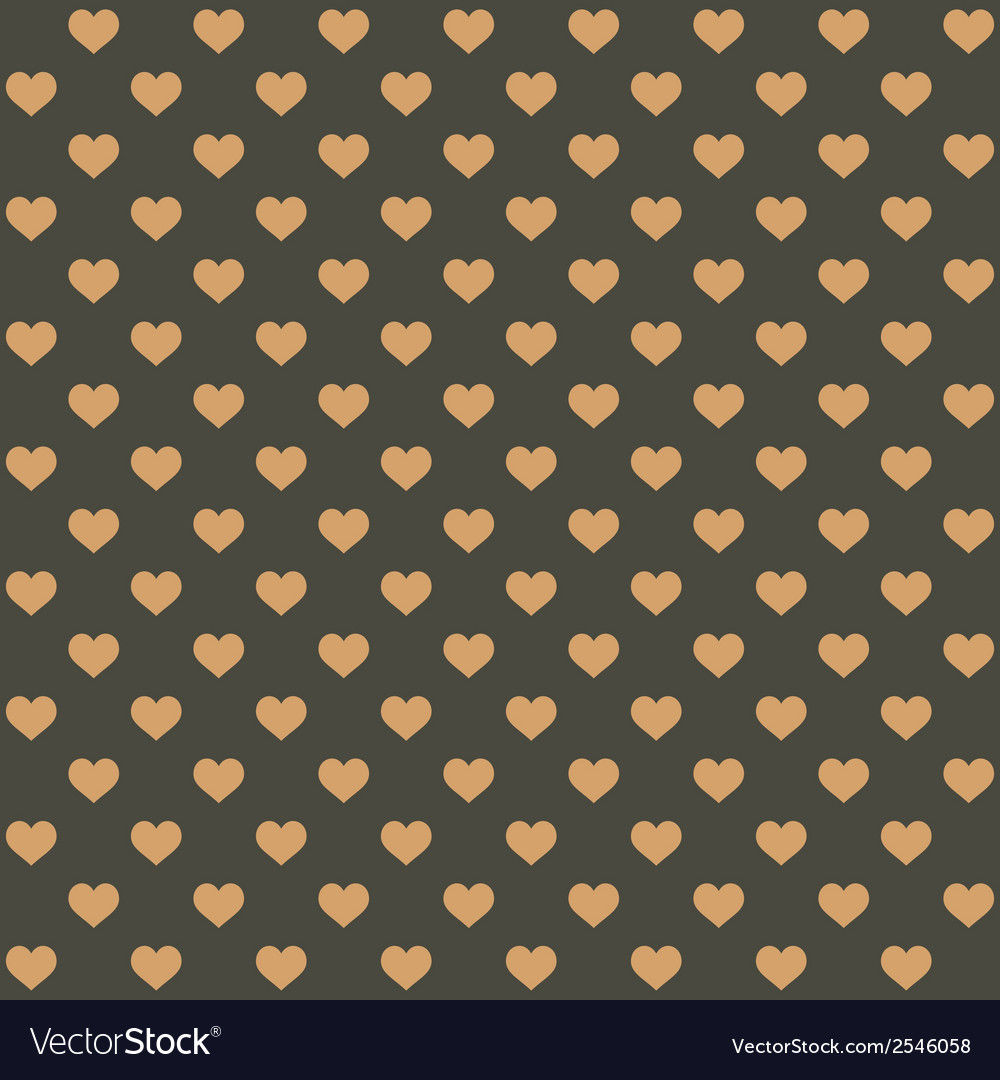Seamless retro style pattern with hearts