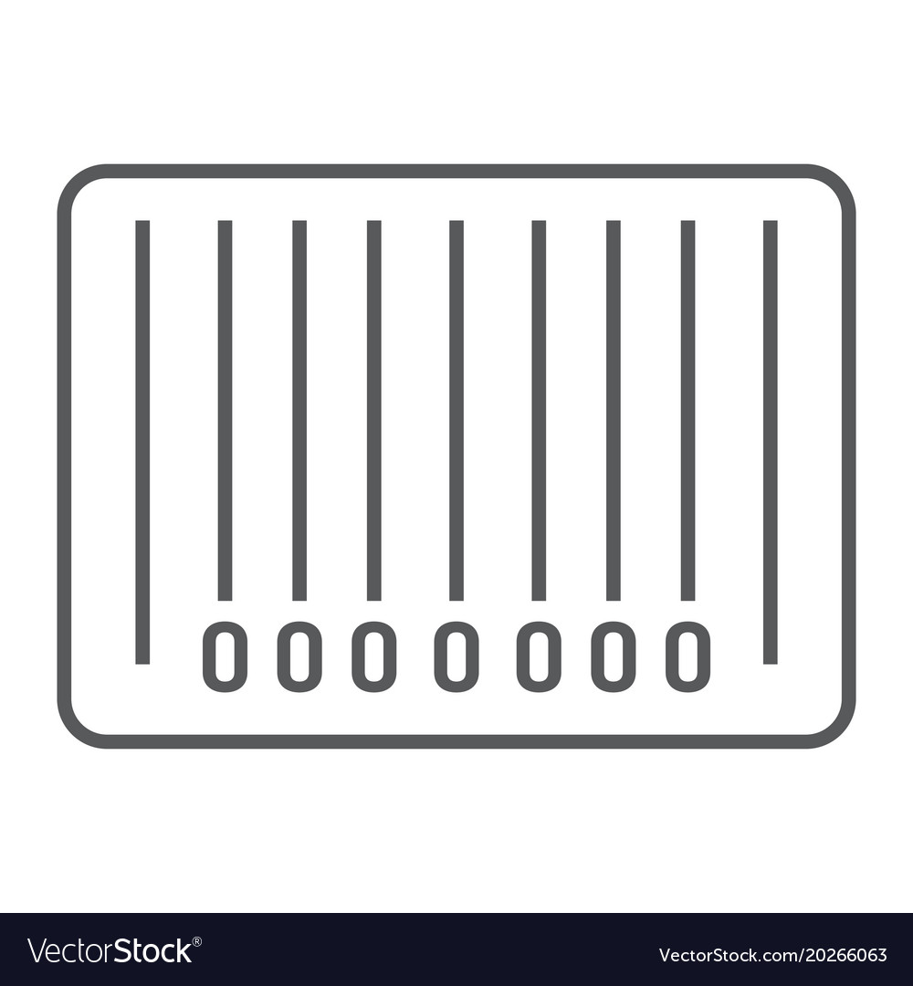 Barcode thin line icon e commerce and marketing
