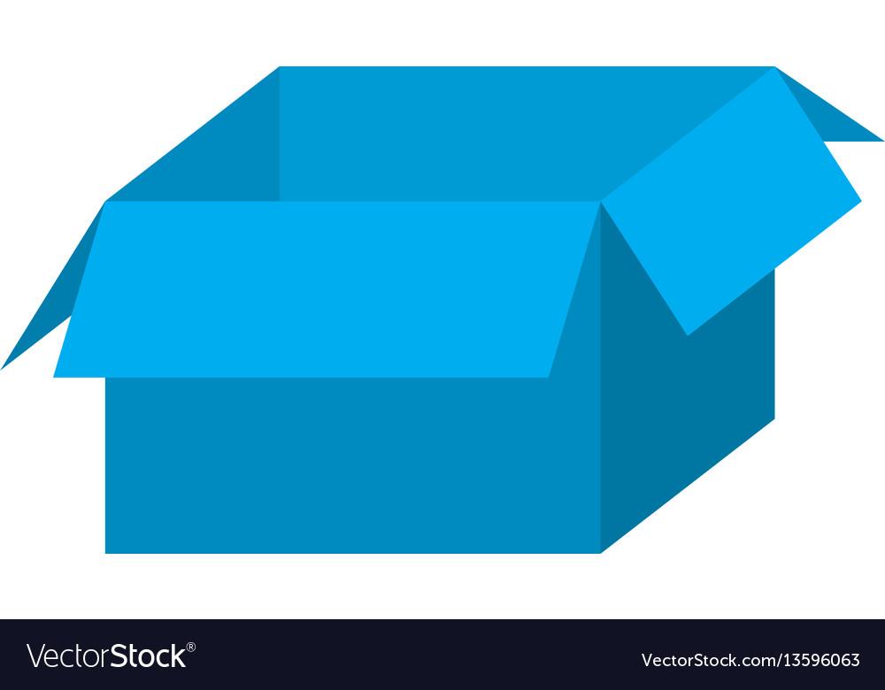 Blue box open icon vector image